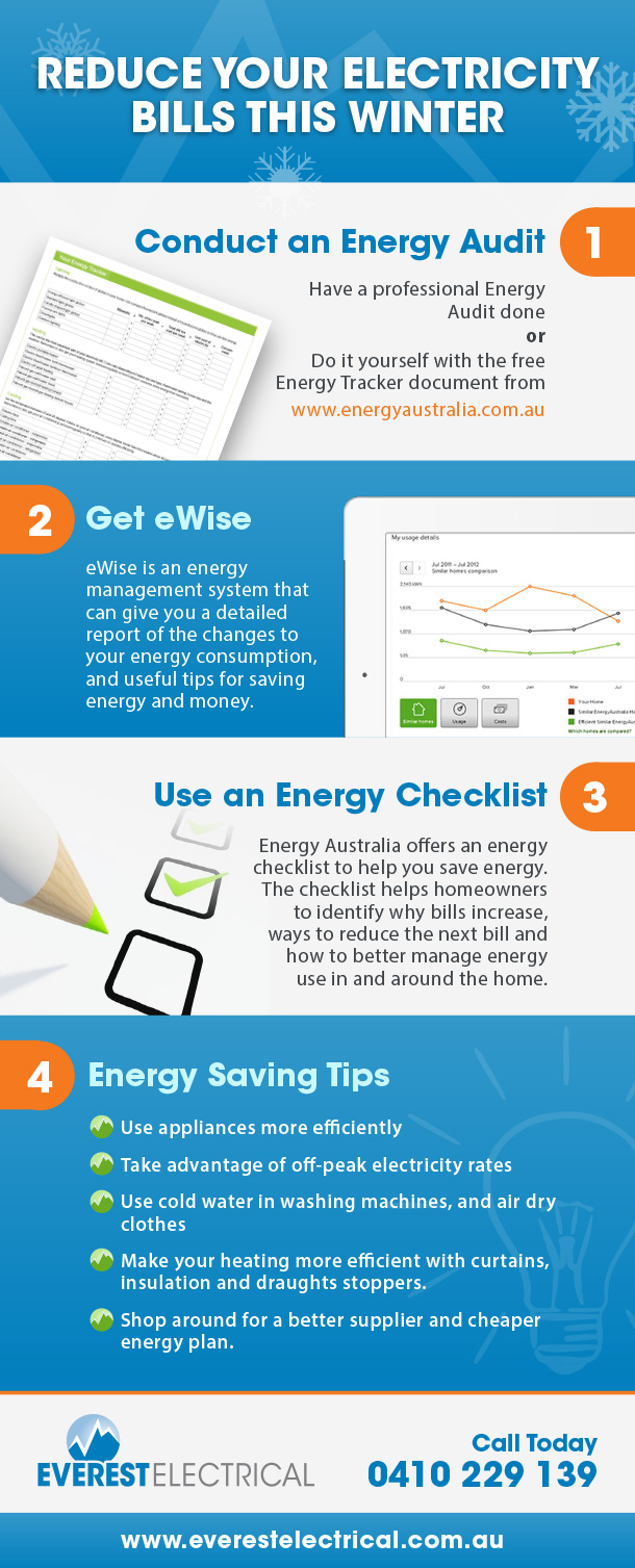 [Infographic] Reduce Your Electricity Bills This Winter