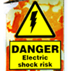 Bright Danger Electric Shock Sign
