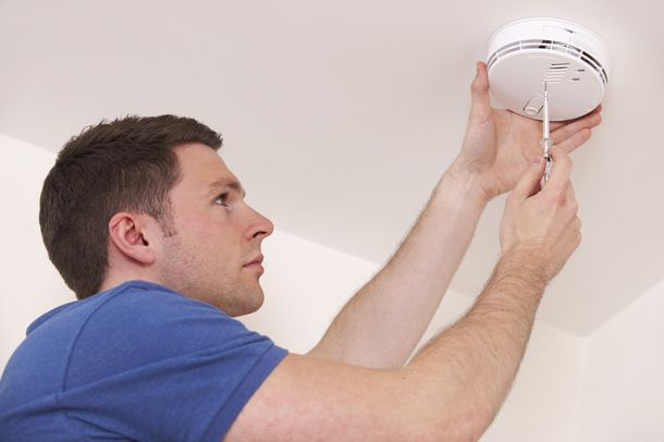 Brookvale Electrician Installing Smoke Alarm
