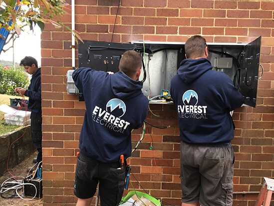 everest electrical switchboard upgrade