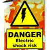 Bright Danger Electric Shock Sign