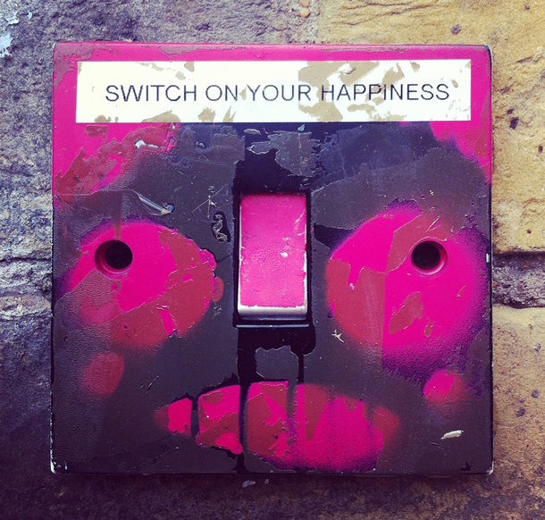 Funky Pink Light Switch