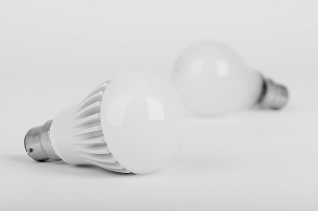 LED and incandescent bulbs