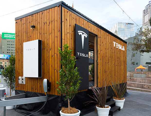 Tesla's Tiny House Takes To The Streets