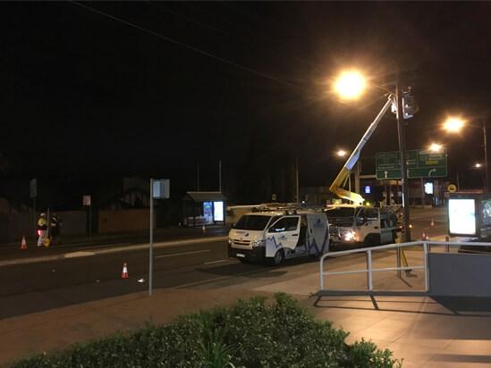 private power pole installation lane cove